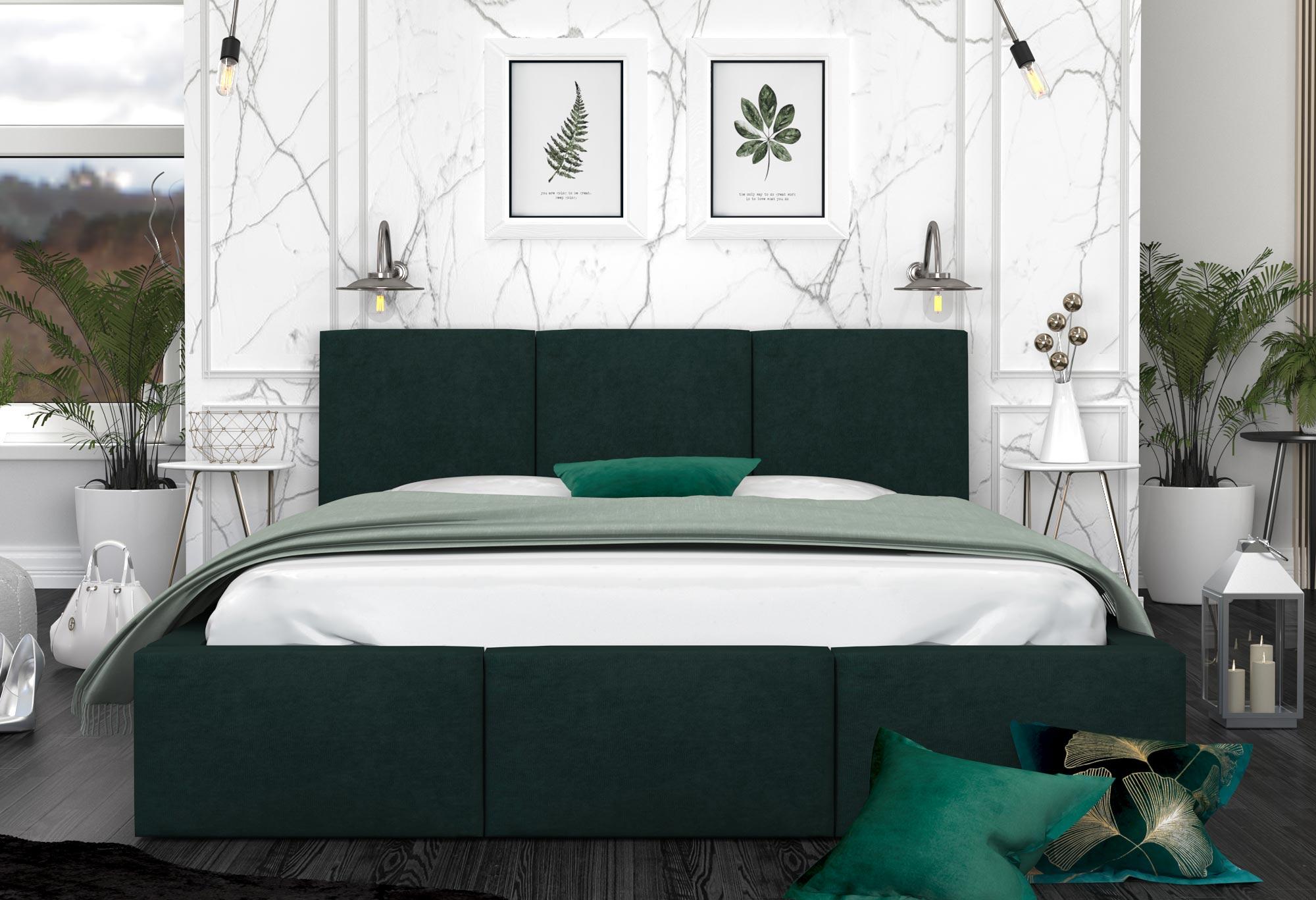 Łóżko sypialniane SILENTO aranżacja